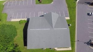 clean roof after pressure washing